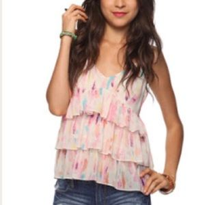 Rory Becca for Forever 21 Watercolor Flutter Top